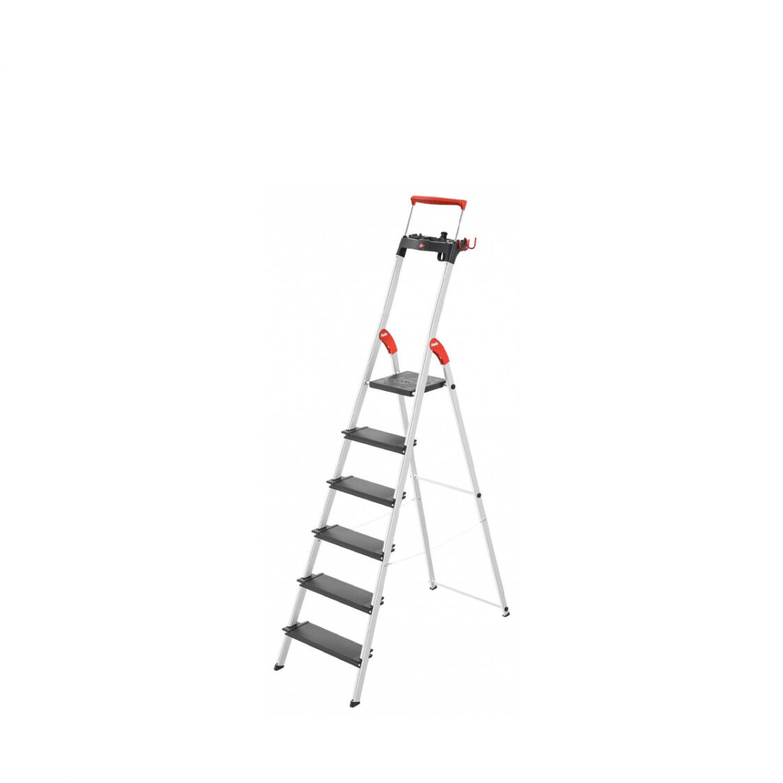 Hailo SL100 Topline Safety Ladder - 6 Steps H8050-607