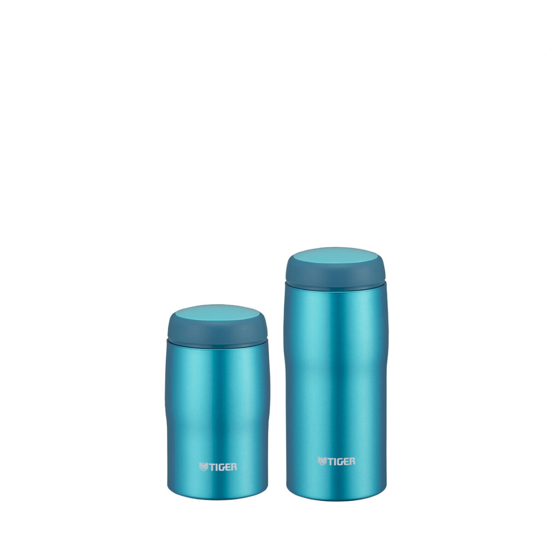 Tiger 240ml360ml Double Stainless Steel Mug Set Made In Japan Bright Blue