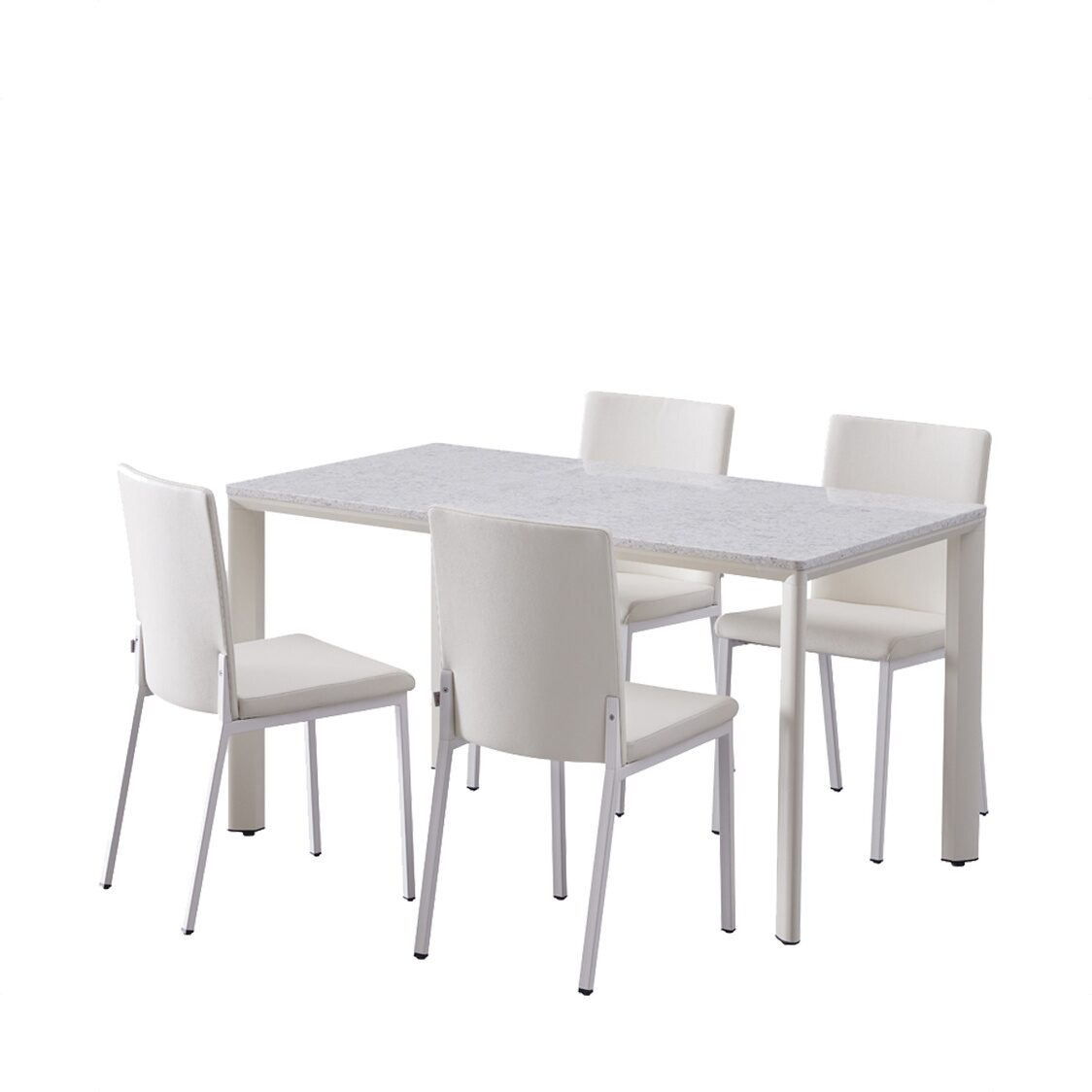 Iloom DELIC Dining Table for 4Mock Marble HT11T4EEN-IPIIV
