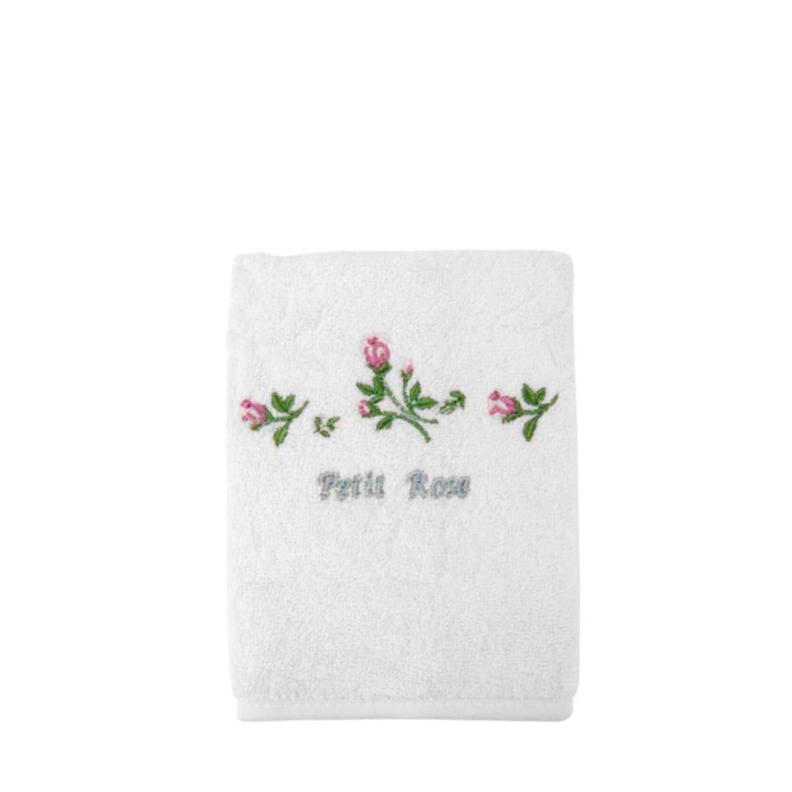 Petit Rose 100 Combed Cotton Face Towel White