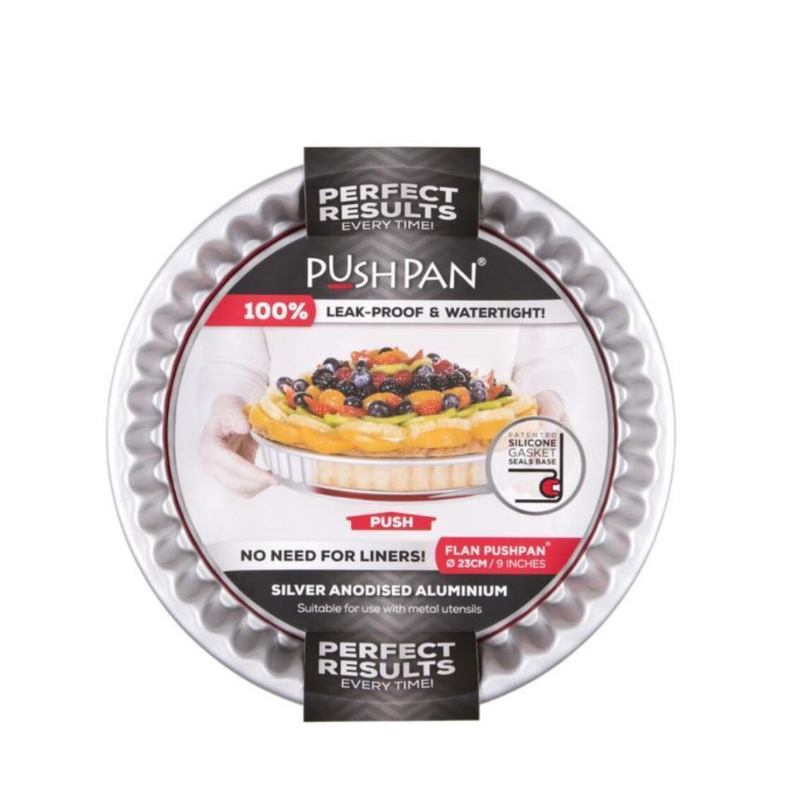 Pushpan Round Flan And Quiche Pan 23cm