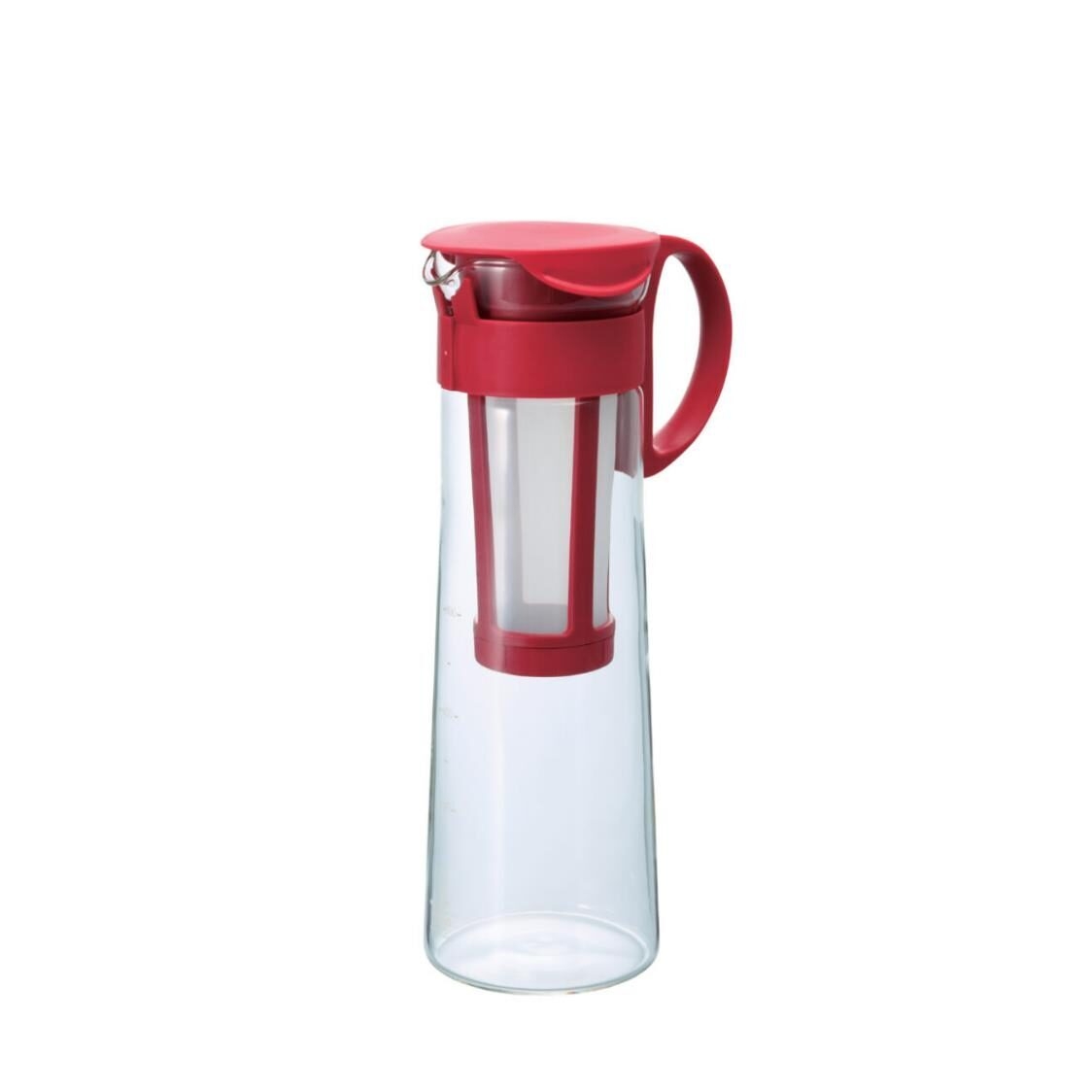 Hario Mizudashi Cold Brew Coffee Pot Water Pitcher With Built-in Strainer Red 1000ml