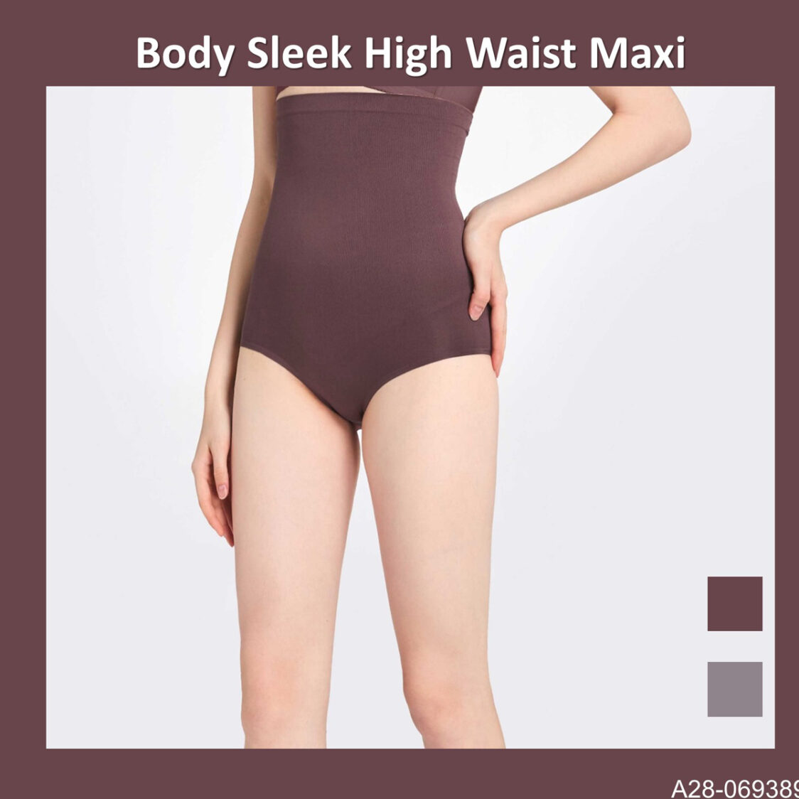 Body Sleek High Waist Maxi A28-069389MBR Mid Brown