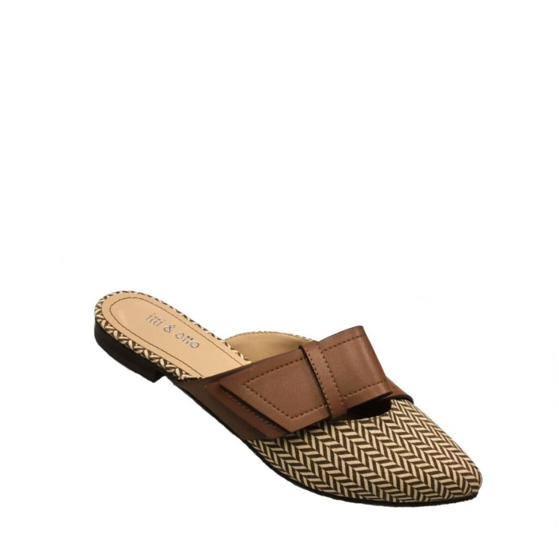 Itti  Otto Flat Slip On Mules 34-9420 Brown