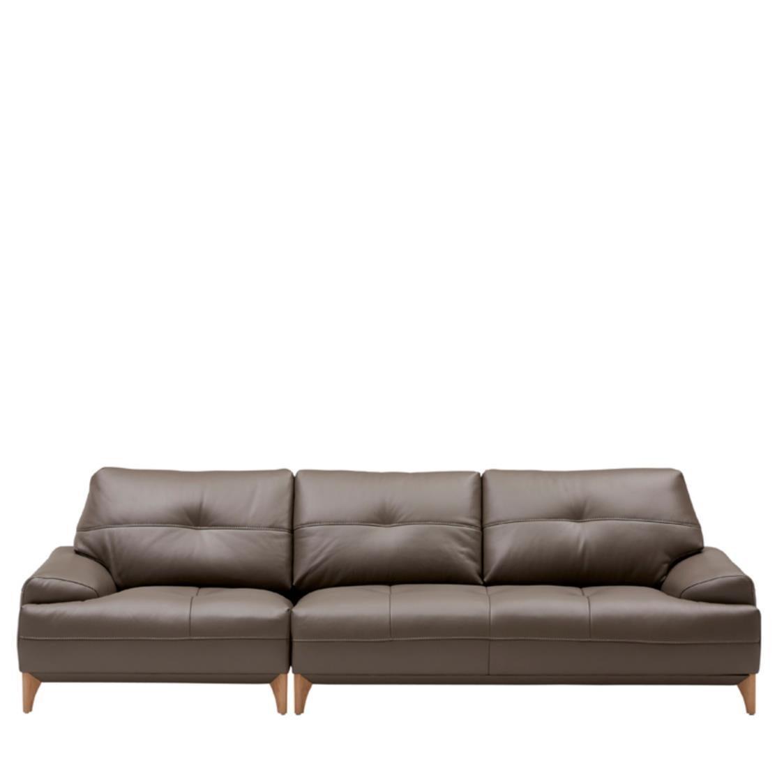 Iloom Boston Leather Sofa For 4  L392 Cocoa