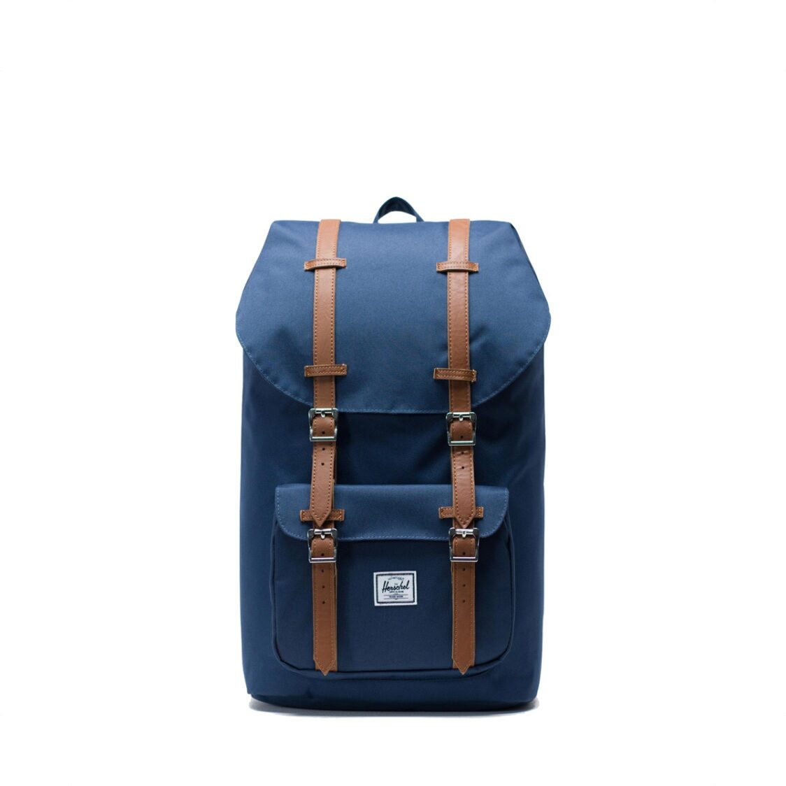 Herschel Little America NavyTan Synthetic Leather Backpack 10014-00007-OS