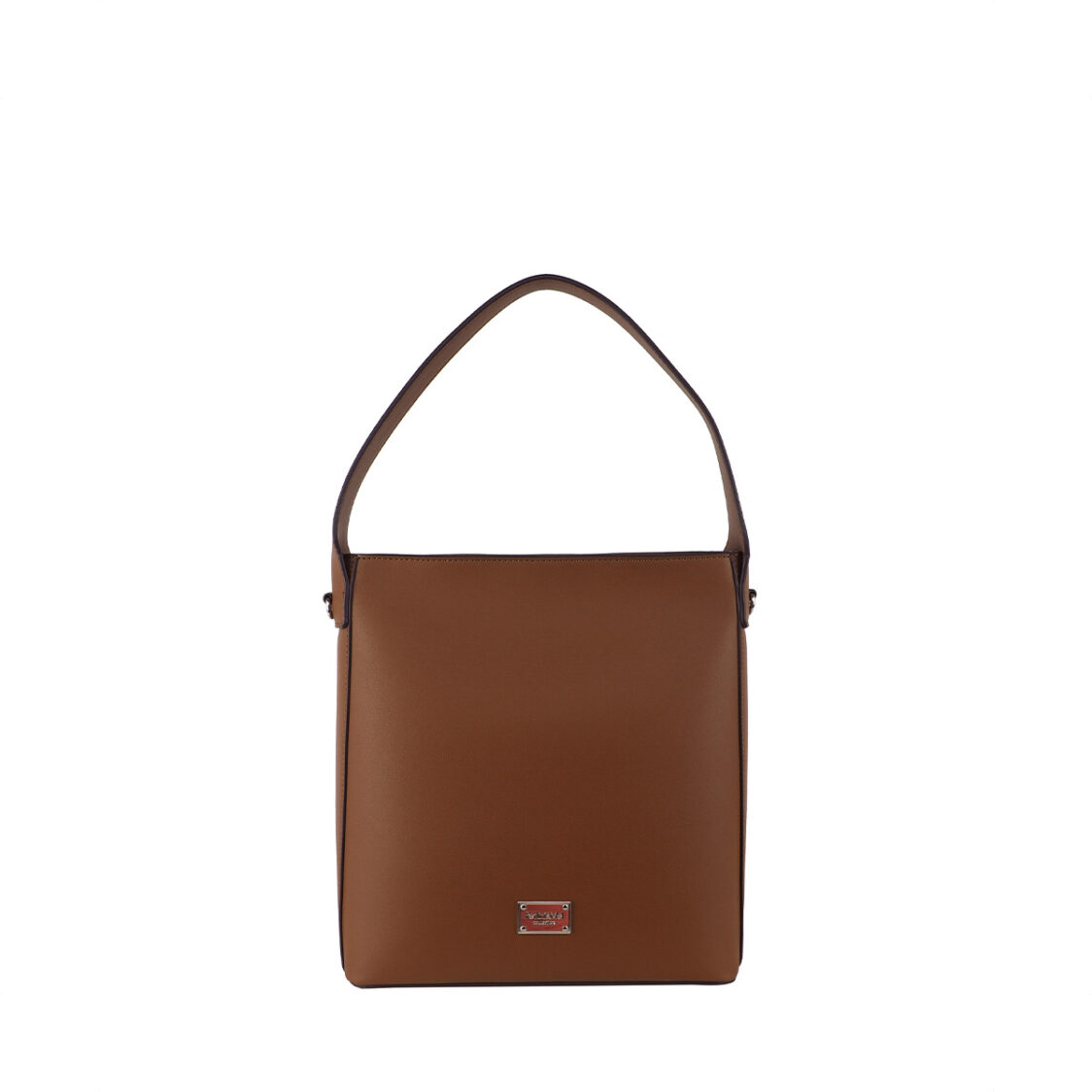 Perllini  Mel Structured Shoulder Sling Bag Tan PY9921-Tan
