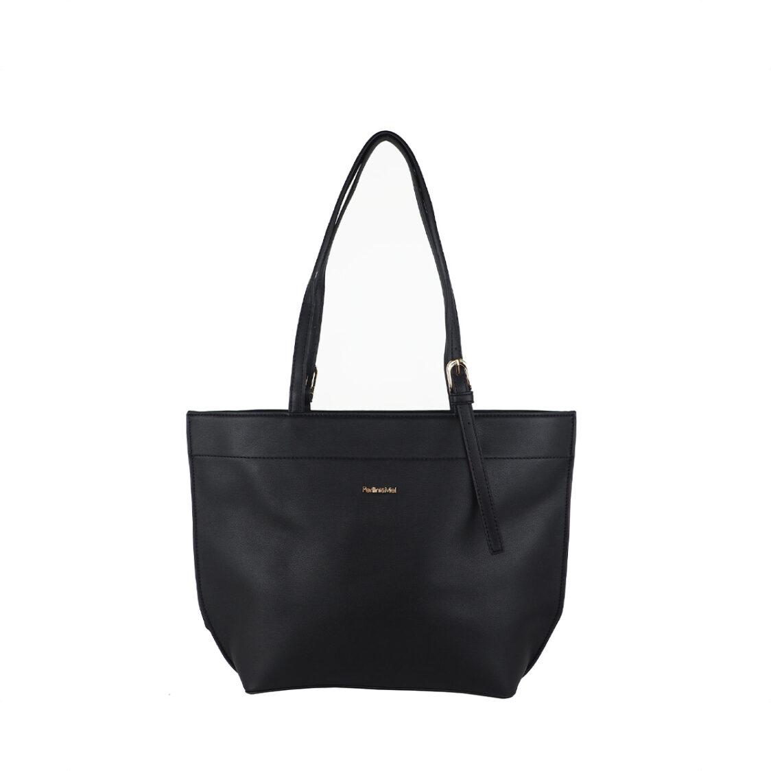 Perllini  Mel Double Handle Tote Bag Black PF7470-Blk