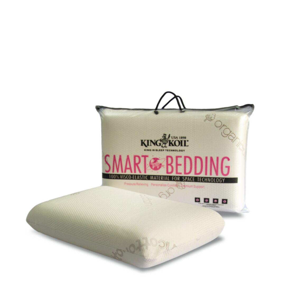 King Koil Smart Bedding Comfort Pro-Standard Pillow Organic Cotton