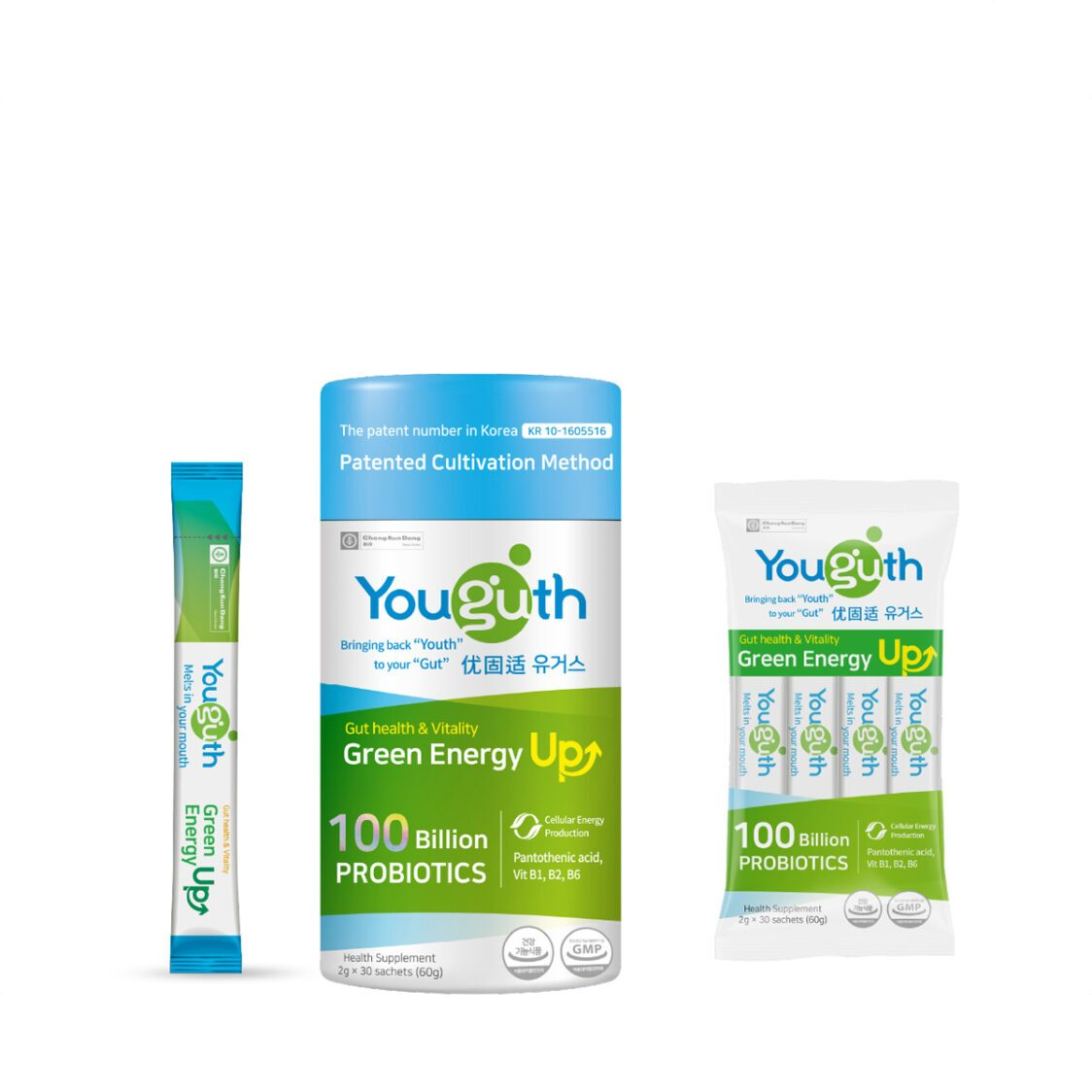 Youguth Probiotics Green Enegry Up 30s