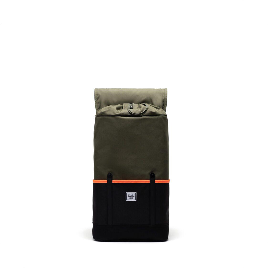 Herschel Retreat Pro Ivy GreenBlackShocking Orange Backpack 11039-04940-OS