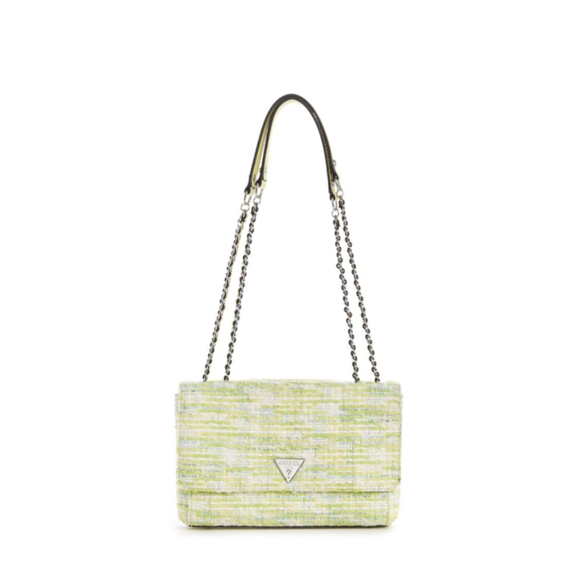 Guess Cessily Convertible Crossbody Flap Lime Multi