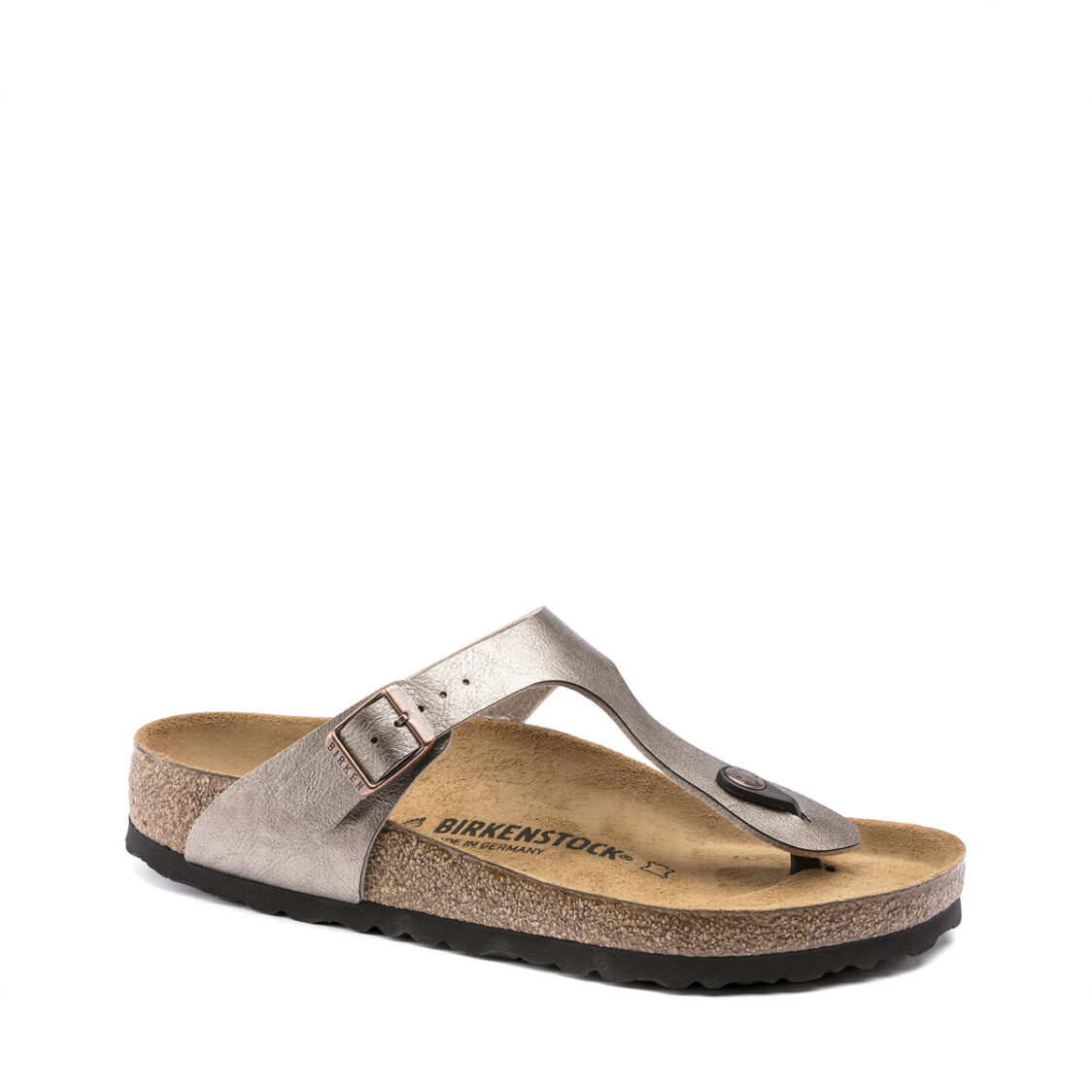 Birkenstock Gizeh Birko-Flor Womens Regular Width Sandals Graceful Taupe