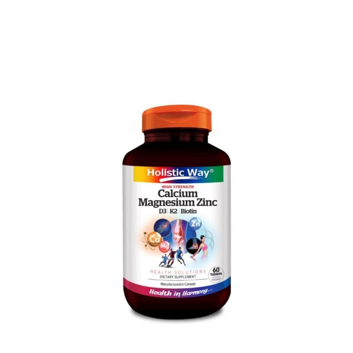 Holistic Way High Strength Calcium Magnesium Zinc 60s