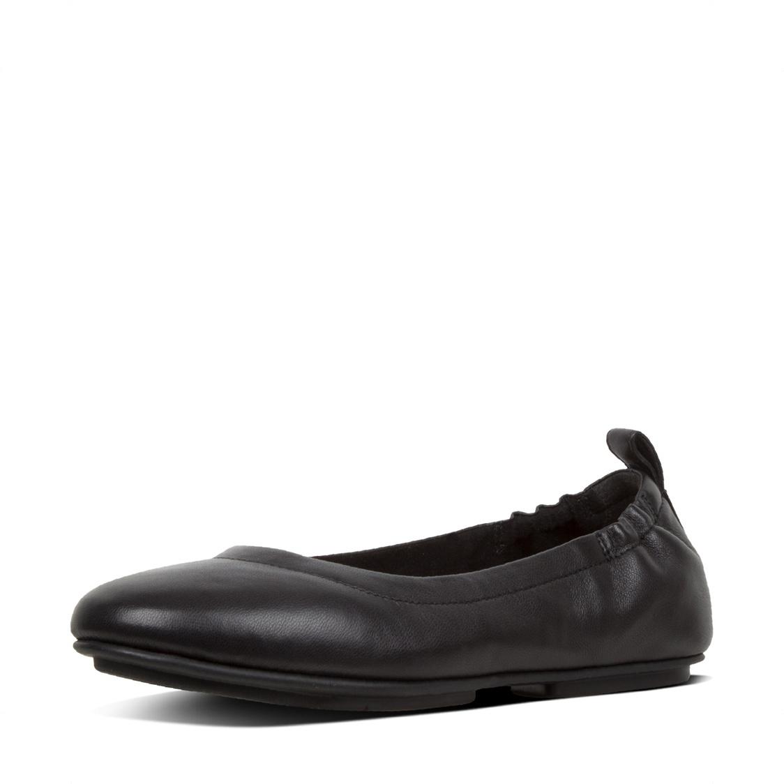 Fitflop Allegro Leather Ballerinas Black