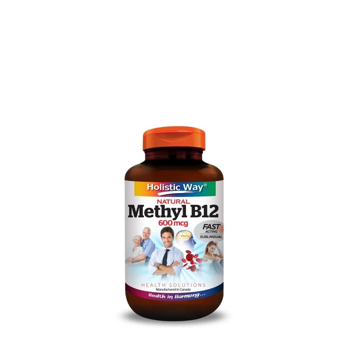 Holistic Way Natural Vitamin B12 600mcg 90 Tablets