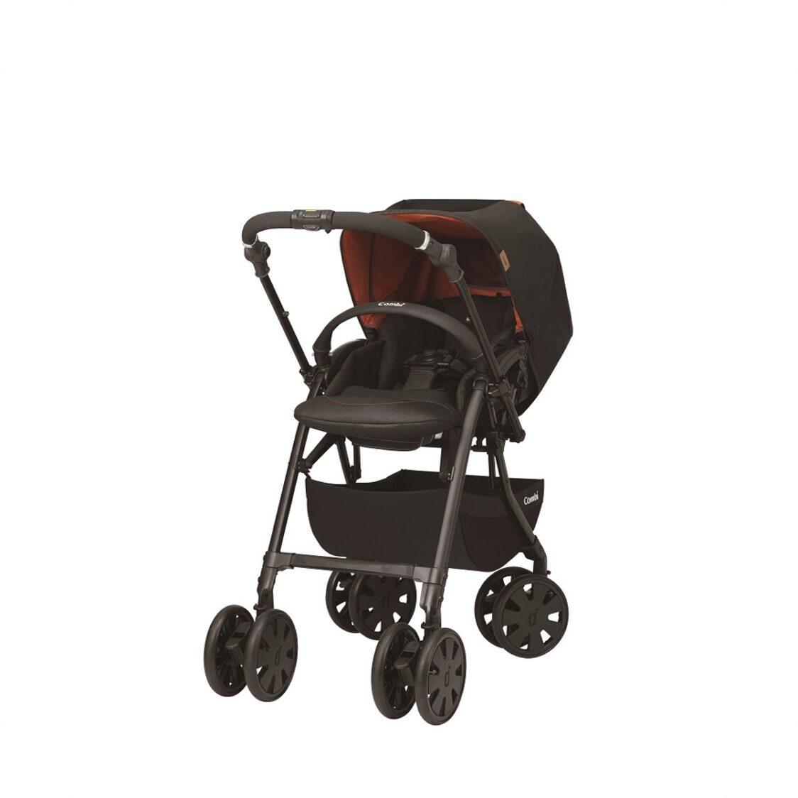 Combi Crossgo Tangerine Black Stroller 136 Months 67KG Auto 4 Swivel wheels