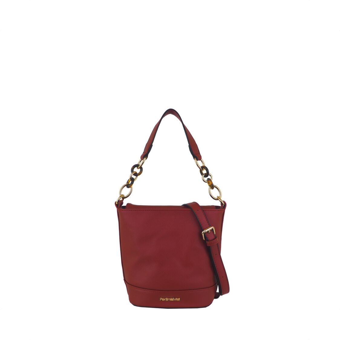 Perllini  Mel Structed Shoulder Bag Red
