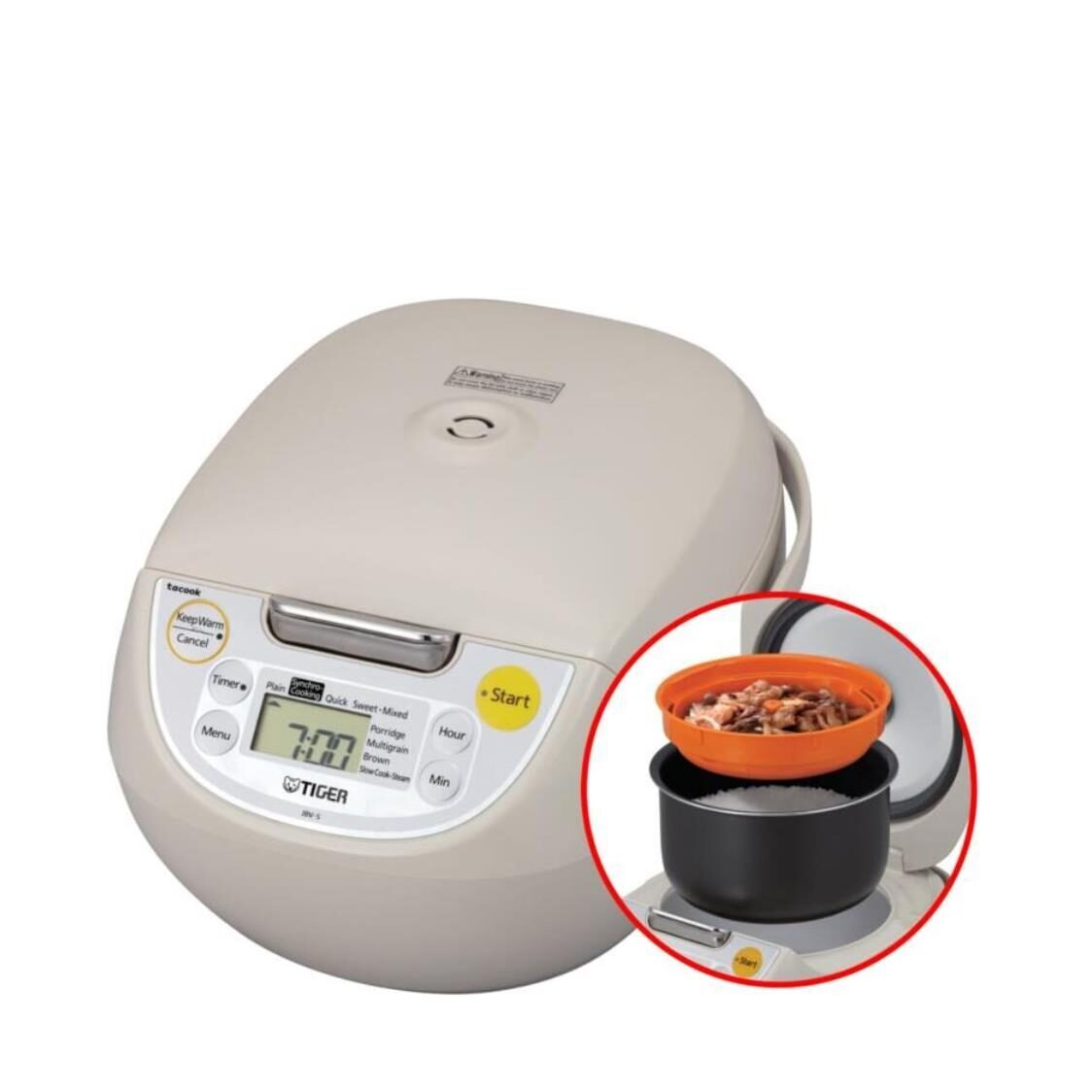Tiger 18L 4-in-1 Tacook Rice Cooker - Made in Japan JBV-S18S