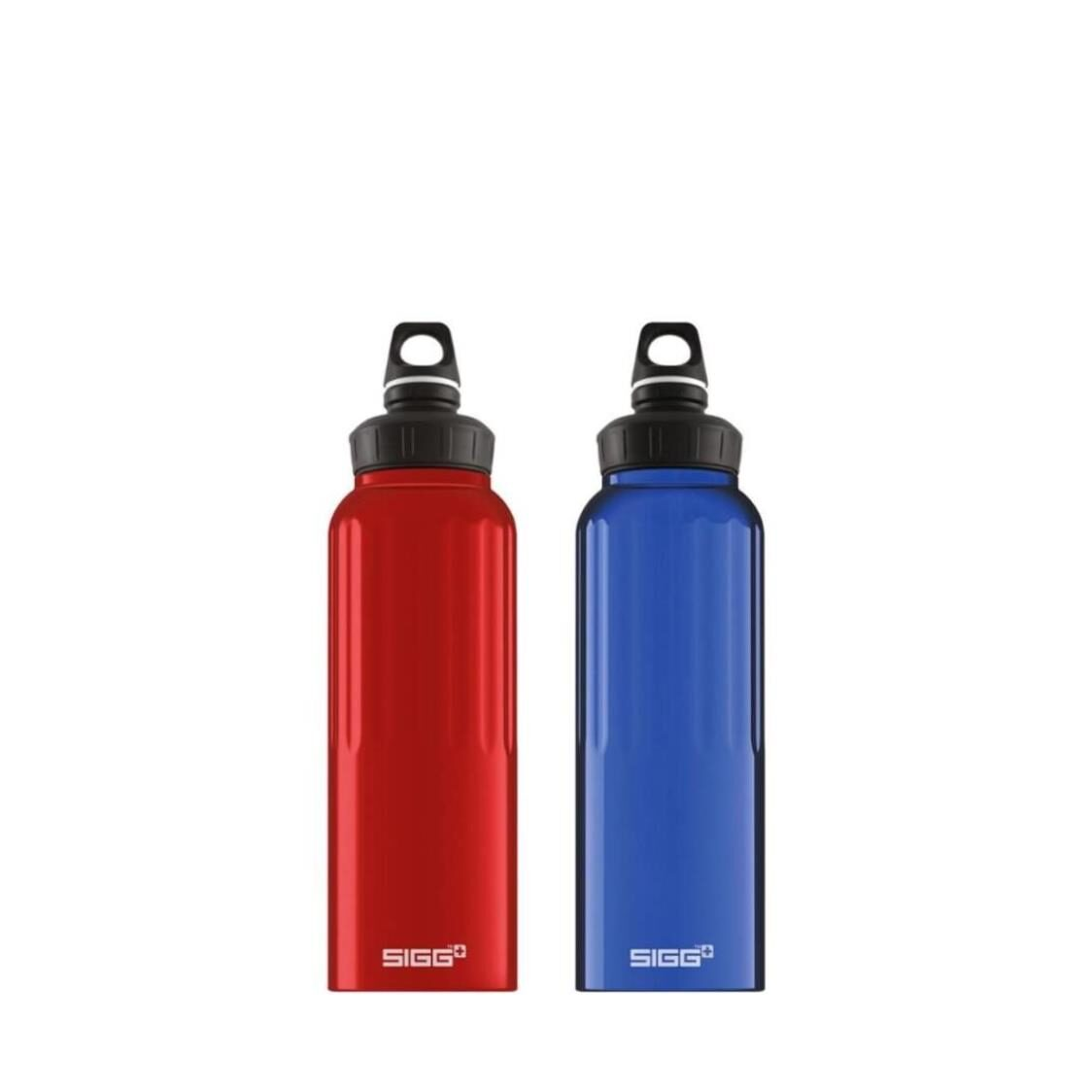 Sigg 2-pc Set 15L Traveller Wide Mouth Water Bottle - RedBlue 852600852610