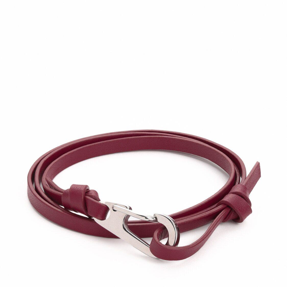 Plain Supplies Flo Bracelet - Burgundy Leather