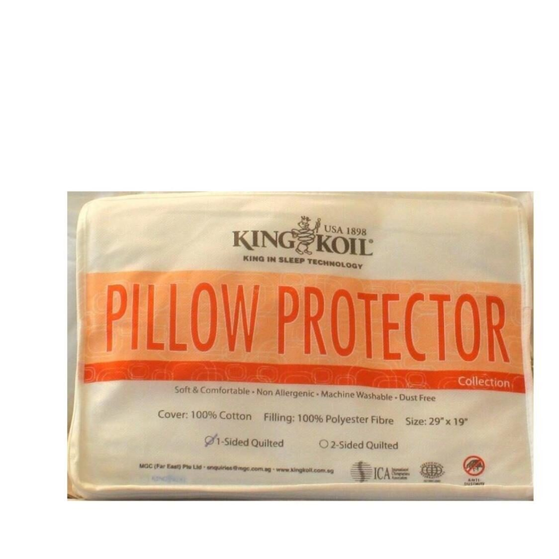 King Koil Cotton Pillow Pad Double Quilted
