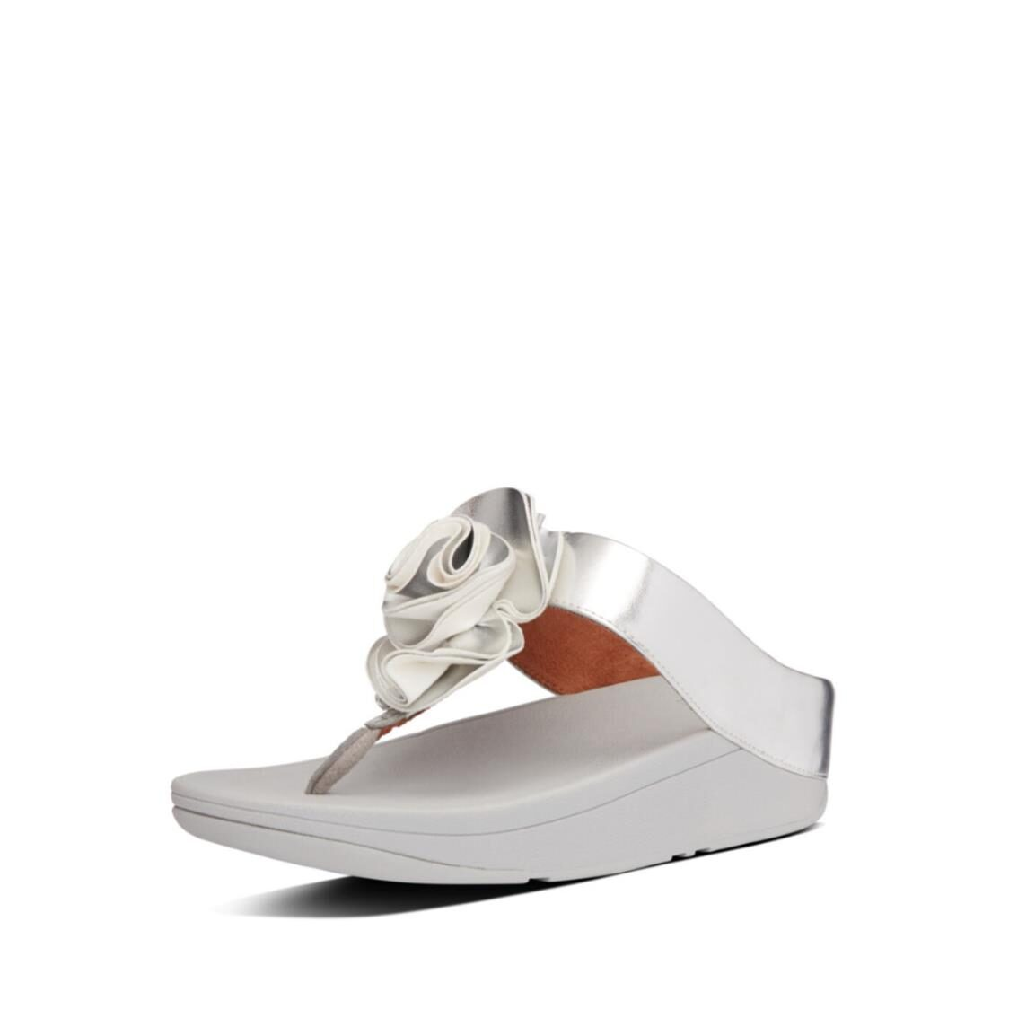 Fitflop Florrie Toe Thongs Silver AS8-011