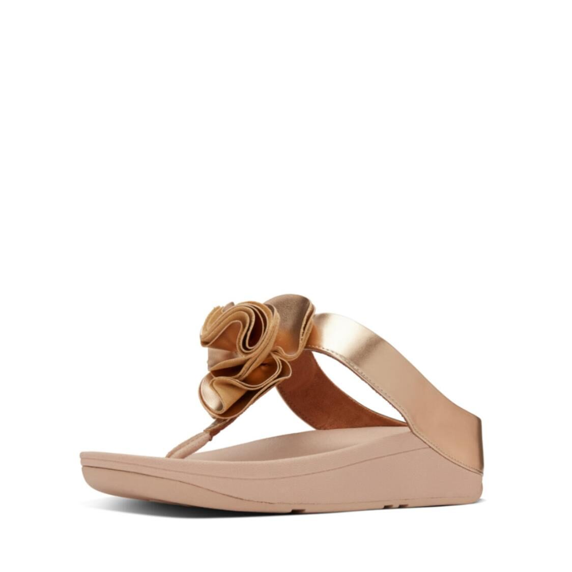 Fitflop Florrie Toe Thongs Rose Gold AS8-323