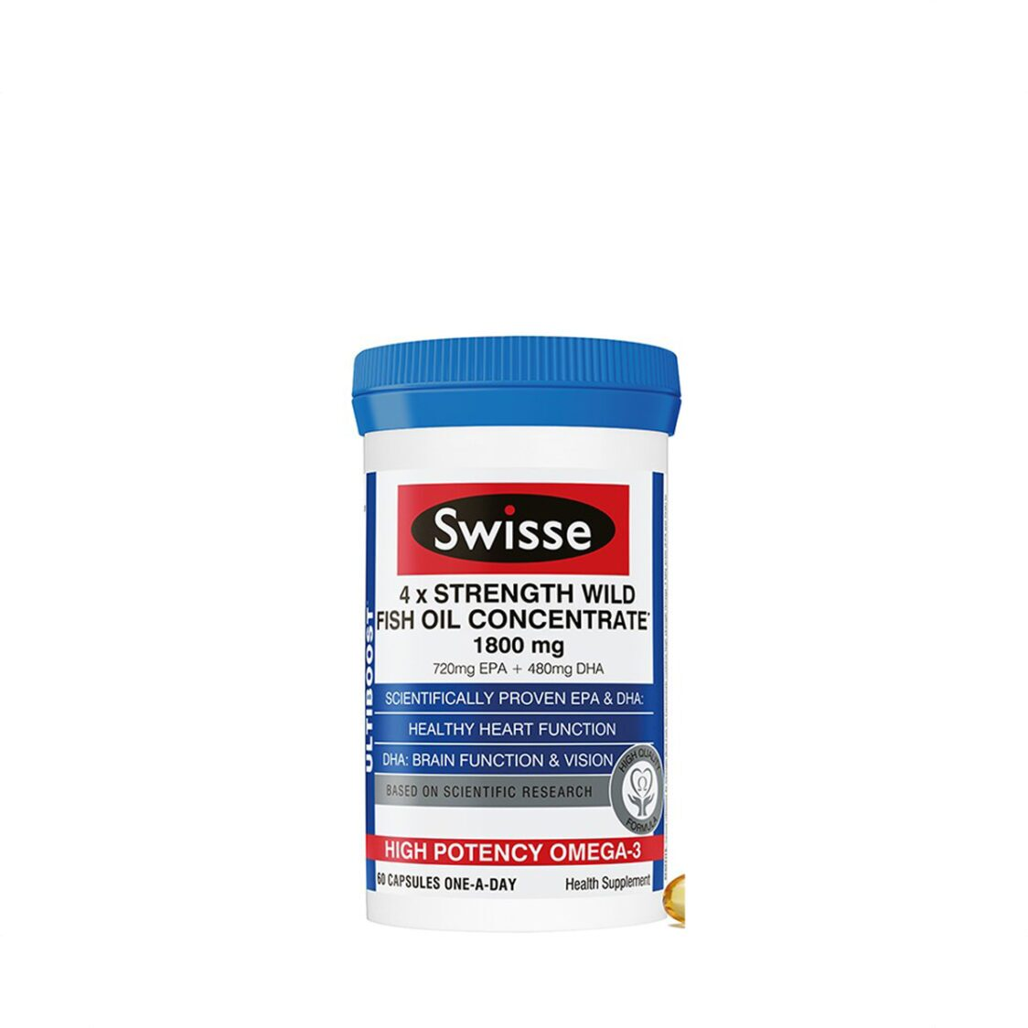 Swisse 4 X Strength Wild Fish Oil Concentrate 60s