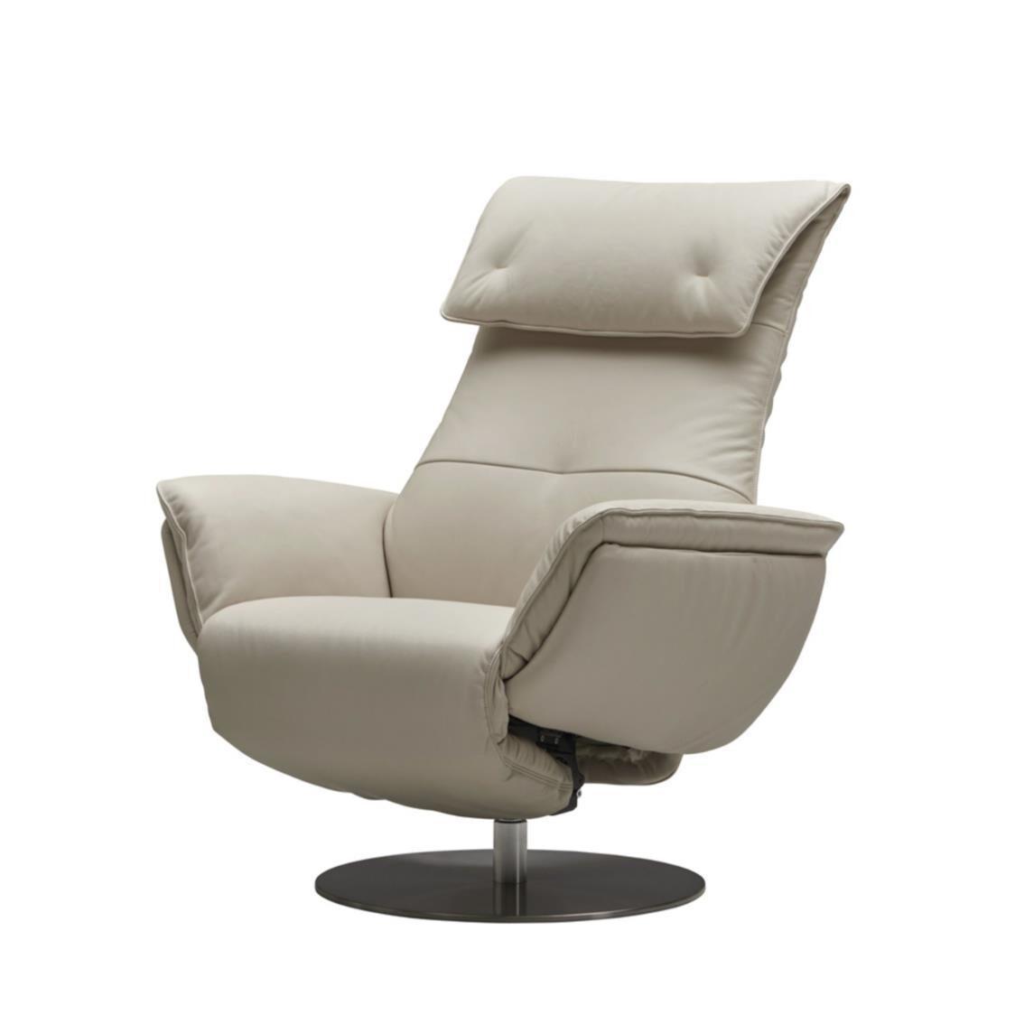 Iloom Wolke Chair - Half Leather L660 Powder