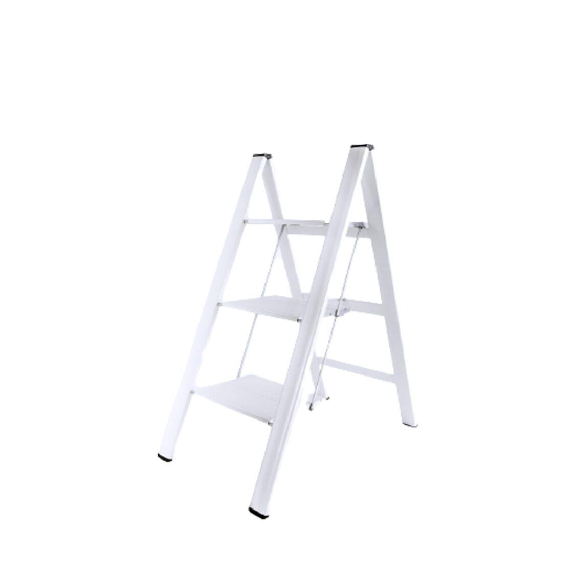 Lucano Slim Step Alum 3 Stepstool Ladder ML8BWH