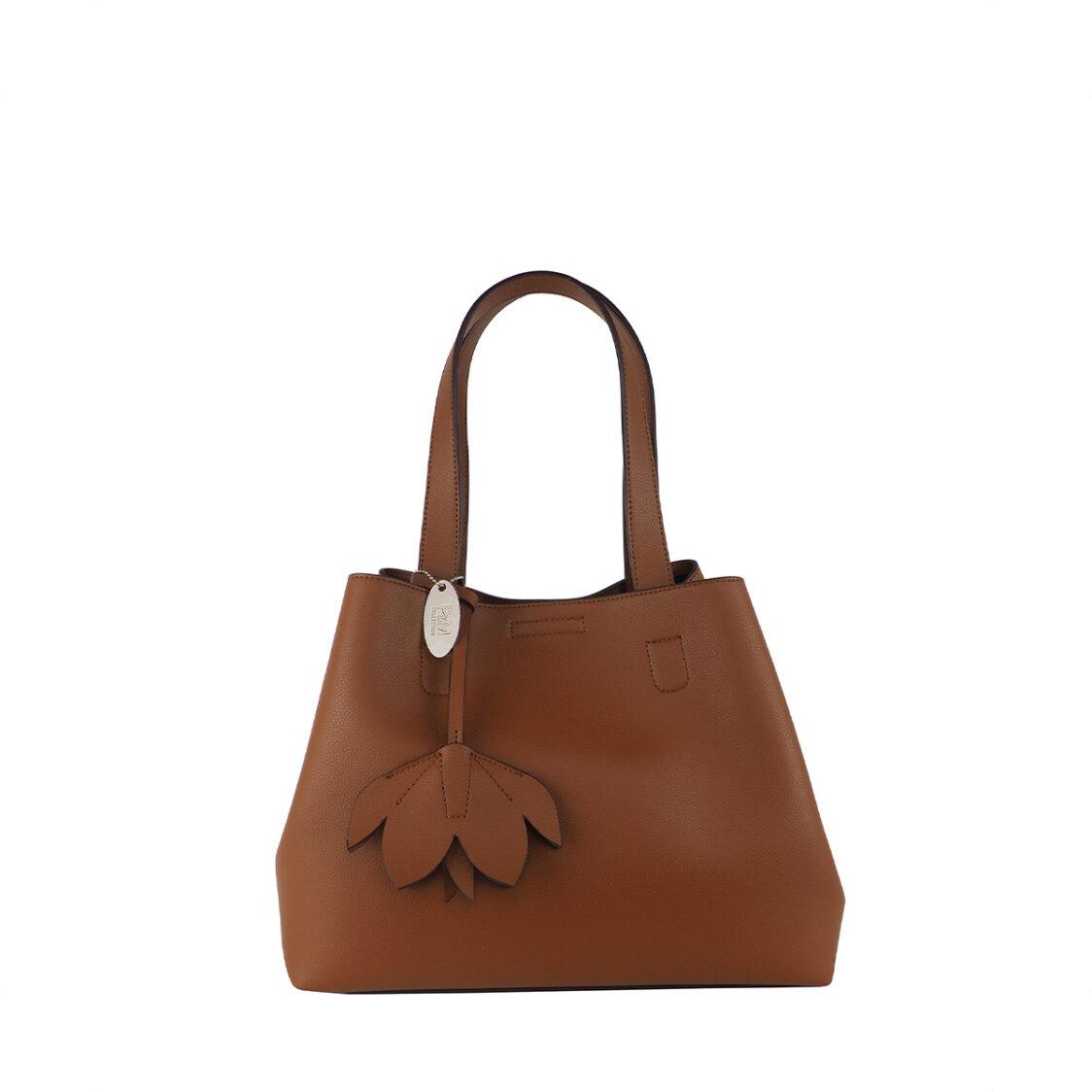 Perllini  Mel Double Handle Shoulder Bag Tan PY9917-Tan