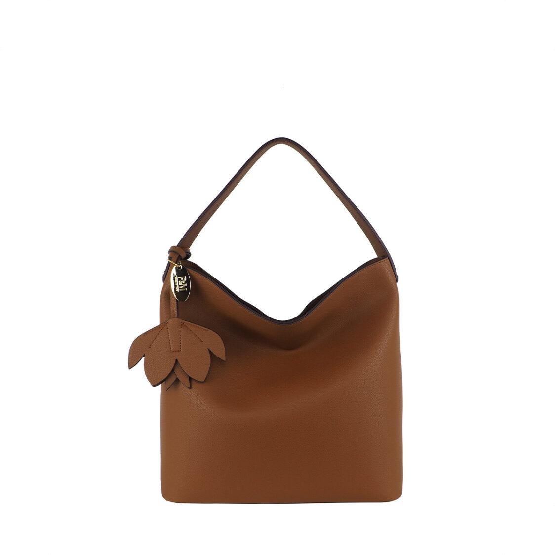 Perllini  Mel Single Handle Shoulder Bag Tan PY9923-Tan