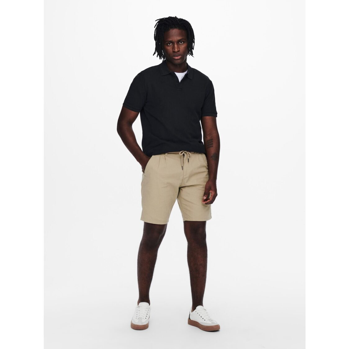 Only  Sons Onsleo Shorts Linen Mix GW 9201 Chinchilla