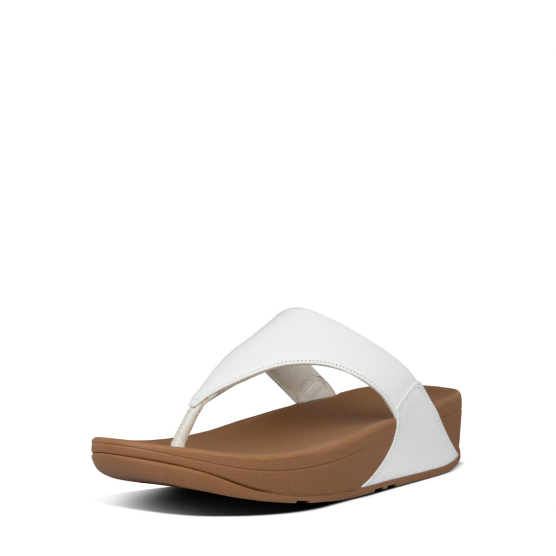 Fitflop Lulu Leather Toepost White I88-024