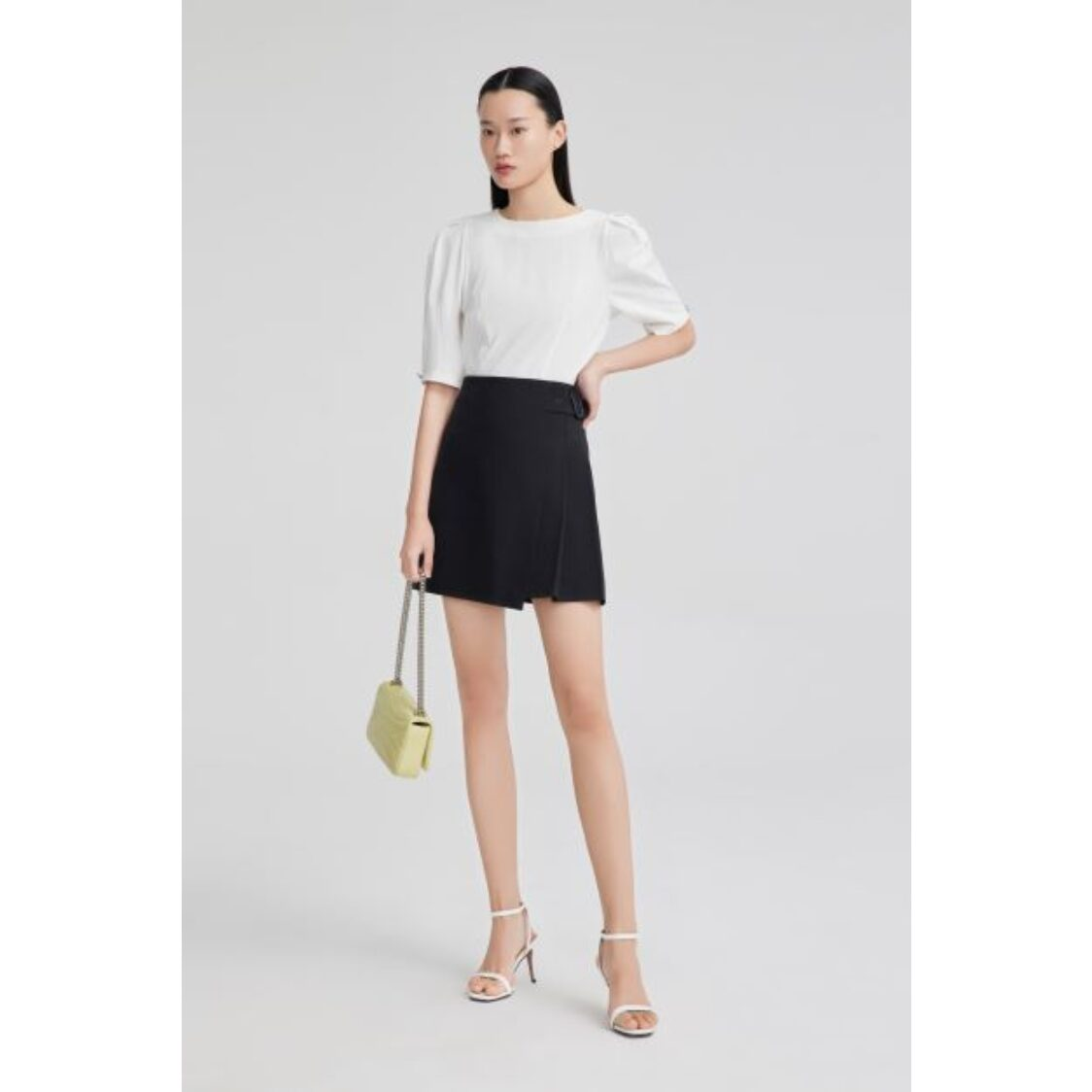 LILY Puff Sleeve Top White