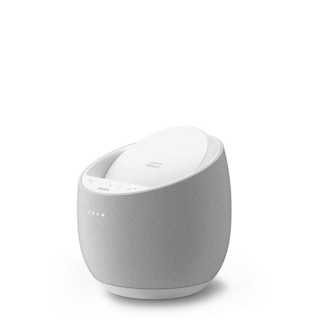 Belkin SOUNDFORM ELITE Hi-Fi Smart Speaker  Wireless Charger White